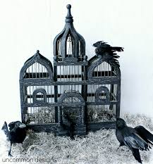 How To Decorate A Birdcage Home Decor Haunted Birdcage For Halloween Uncommon Designs