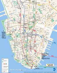 Map New York City New York City Most Popular Attractions Map Large Printable