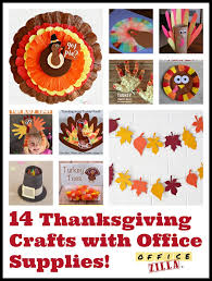 14 thanksgiving crafts using office supplies the officezilla