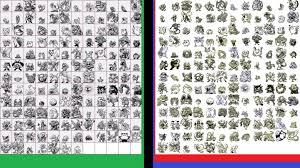 sprites comparison between pokemon green u0026 its updates red u0026 blue