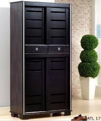 tall shoe cabinet with door ideas natural wooden shoe storage