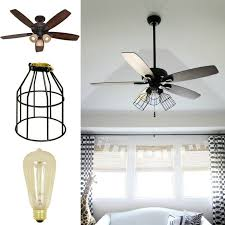Light Fans Ceiling Fixtures Diy Cage Light Ceiling Fan A Hanging Light Home Diy On Cut