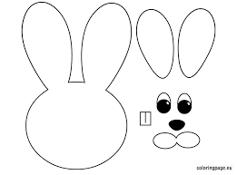 easter bunny face templates u2013 happy easter 2017