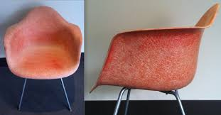 Eames Fiberglass Armchair Original Herman Miller Fiberglass Shell Chair Inhabitot Petey