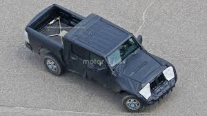 jeep wrangler pickup black jeep wrangler pickup spied from a bird u0027s eye view