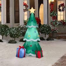 Lighted Christmas Tree Outdoor Decorations by Holiday Outdoor Decor Collection On Ebay