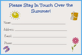 stay in touch over the summer card for kids free printable