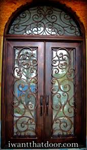 love the look of the iron doors but only have a single door