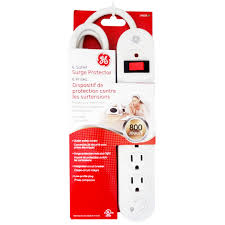 ge surge protector red light ge 6 outlet surge protector case of 2