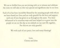 One Page Wedding Program Christy And John Wedding 8 4 07