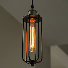 Retro Pendant Lights Rustic Cage Pendant Light For Cafe Shop Retro Lighting From China
