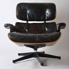 leather lounge chair by charles and ray eames for herman miller