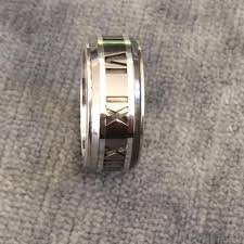 galaxy co wedding rings atlas galaxy ring 925 silver titanium size 4 5 on tradesy