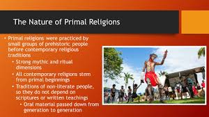 primal religious traditions ppt