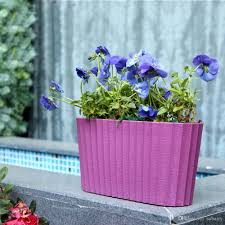 2017 paint coating self watering window planter tabletop plant pot