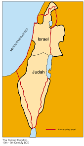 A New Map Of Jewish by The Two Kingdoms Of Israel