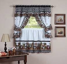 24 Inch Kitchen Curtains Naturally Home Jars Kitchen Curtain Cottage Set Tiers And