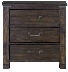 Rustic Pine Nightstand Pine Hill Rustic Pine Panel Bedroom Set From Magnussen Home B3561