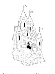 coloriage château sur hugolescargot com