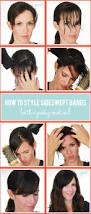 Easy On The Go Hairstyles by 25 Best Styling Bangs Ideas On Pinterest Style Bangs Bangs