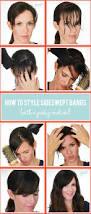 best 25 bangs tutorial ideas on pinterest hair pinned back