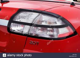 saab convertible red 2008 saab 9 3 2 0t in red tail light stock photo royalty free