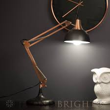 sly designer table desk lamp light black copper modern industrial
