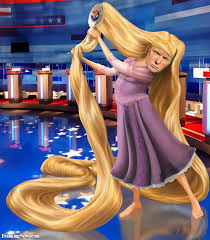 donald trump as rupunzel primping for another election debate