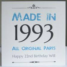 personalised handmade made in year birthday card 40th 50th