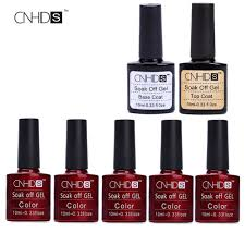aliexpress com buy cnhids brand fashion 5pc gel nail polish