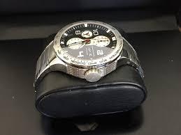 porsche design bracelet fs porsche design flat six p u00276340 black dial ss bracelet
