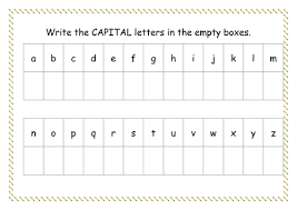 capital letter worksheet by missyrobinson teaching resources tes