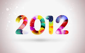 how to create happy new year 2012 colorful greeting card in