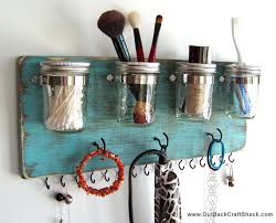 Mason Jar Bathroom Organizer 45 Hair Accessory Organizer Flat Iron Holder Curling Iron