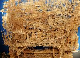 incredibly patient artist uses 100 000 toothpicks to create