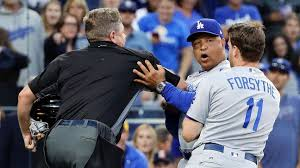 benches clear after dodgers padres managers confrontation dave