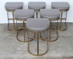 gray leather bar stools slope counter west elm 10 quantiply co