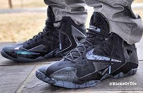 nike lebron xi black look basketball shoes