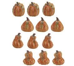 ceramic pumpkins 12 mini ceramic pumpkin set by valerie page 1 qvc