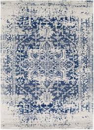 White Rug Prisha Rug White And Blue Bold Colors Bohemian And Bald Hairstyles