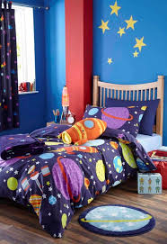 Curtain And Duvet Sets Kids Room Blue Boys Bedroom Design With Starry Curtain And