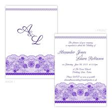 personalised day evening wedding invitations dark purple white