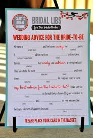 bridal mad libs 7 bridal shower the will more from