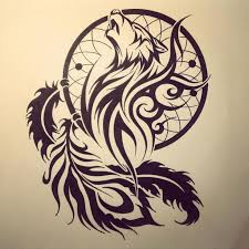 pictures wolf dreamcatcher drawing drawing gallery