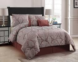 Jacquard Bed Set Essential Home 7 Comforter Set Berkley Jacquard Spice