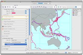Plate Boundaries Map Part 2 U2014launch My World And Investigate Tsunami Patterns