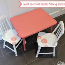How To Paint Table And Chairs Coral Over Pink Chalky Paint Child U0027s Table And Chair Set The