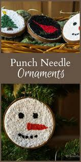 santa hat punch needle ornament punch needle santa hat and free