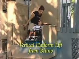 bruno indoor outdoor vertical platform lift aka porch lift