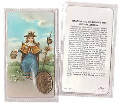 de atocha patron of prisoners prayer card and medal